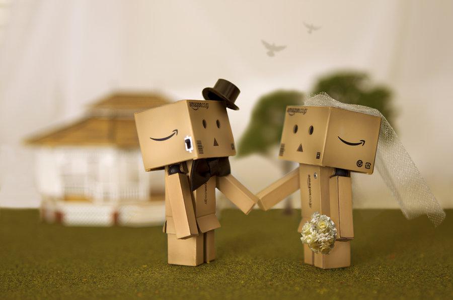 boneka danbo jatuh cinta