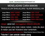 aneka info menu makanan dan cara makan Rasulallah S.A.W