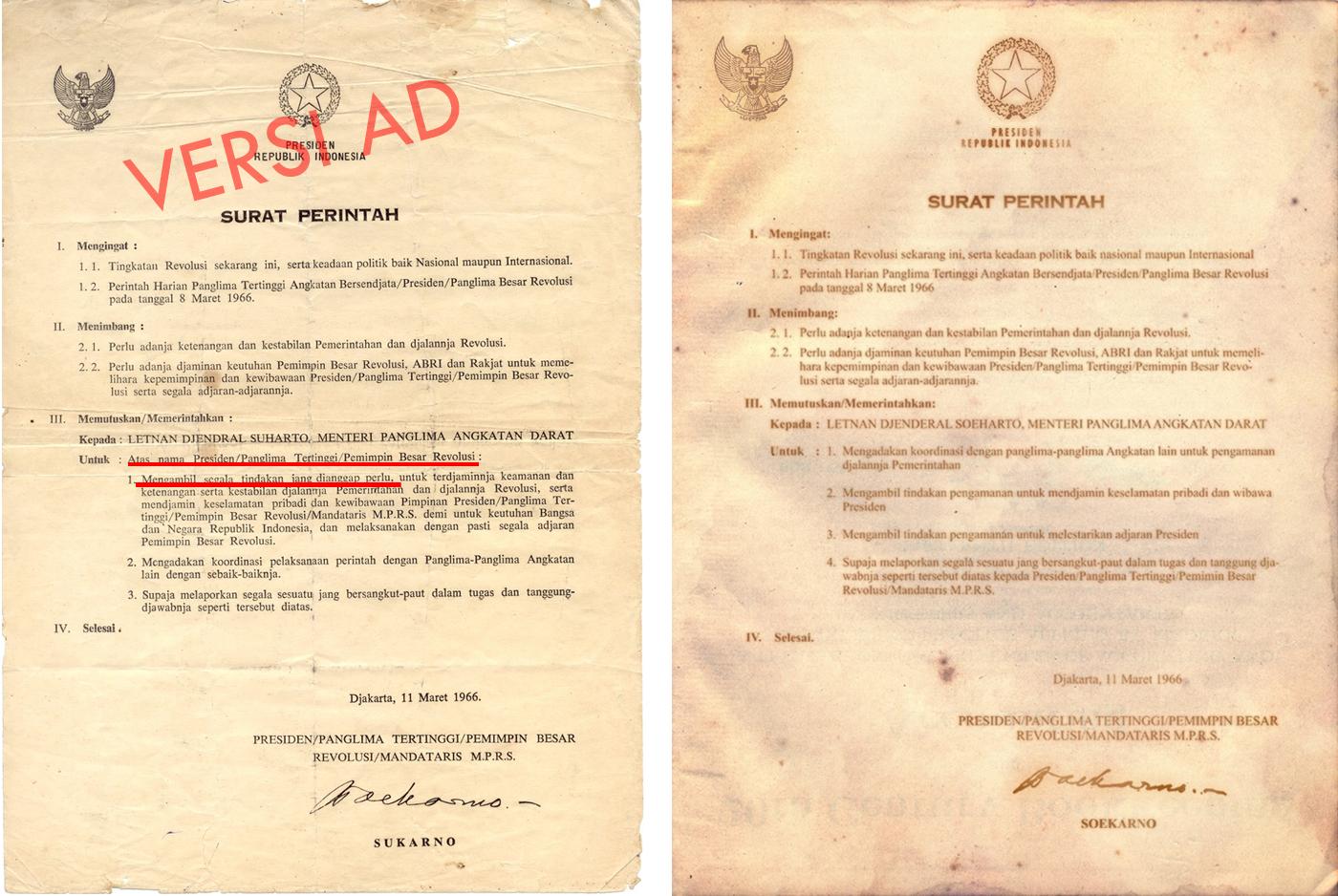Latar Belakang Lahirnya SUPERSEMAR ( Surat Pemerintah 11 maret 1966)